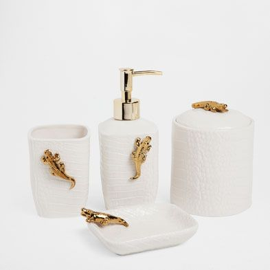 Gold Bathroom Accessories Uk accessories - bathroom | zara home united states | bathroom