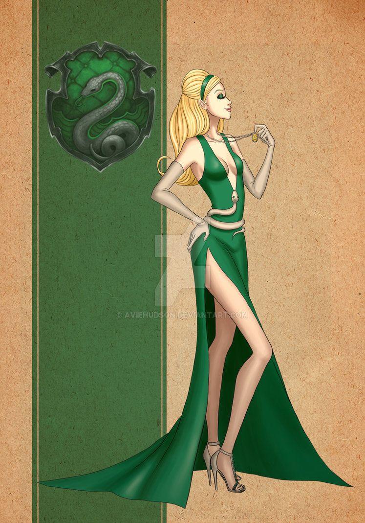 Slytherin Dress By Aviehudson Deviantart Com On Deviantart Harry Potter Outfits Harry Potter Dress Slytherin Dress