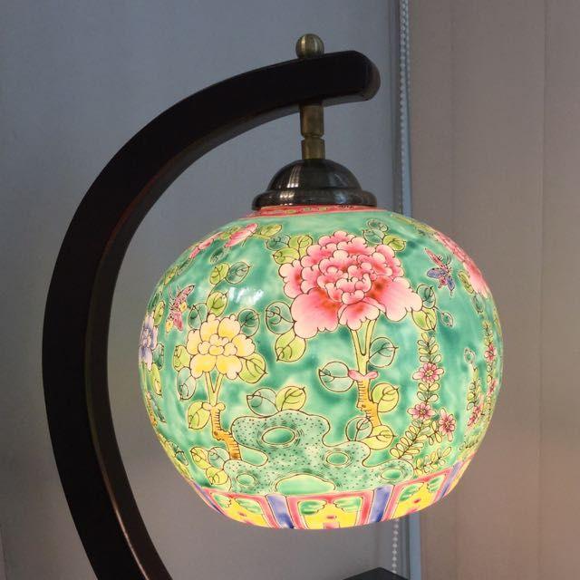 Peranakan Style Table Lamp Table Style Table Lamp Lamp