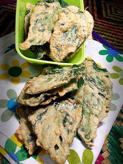 Fiza S Cooking Rempeyek Bayam Makanan Bayam Resep Masakan