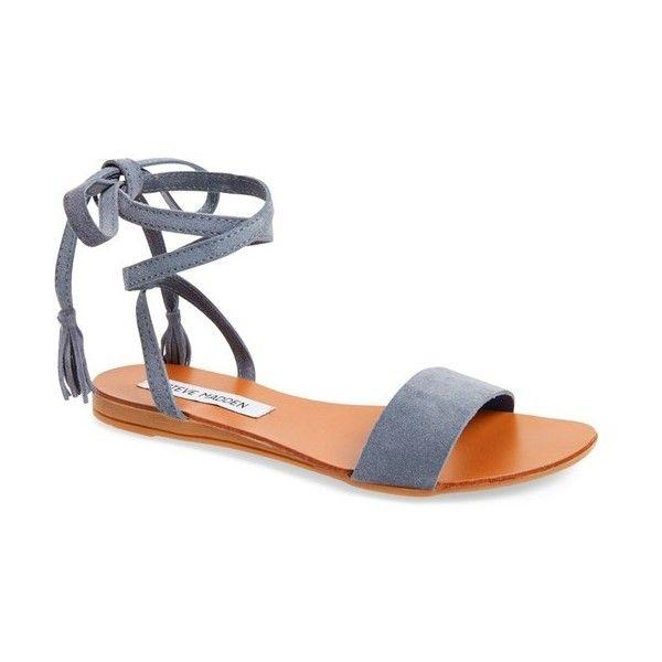 4f02da93fa8 Women's Steve Madden Kapri Wraparound Lace Sandal (880 MXN) ❤ liked ...