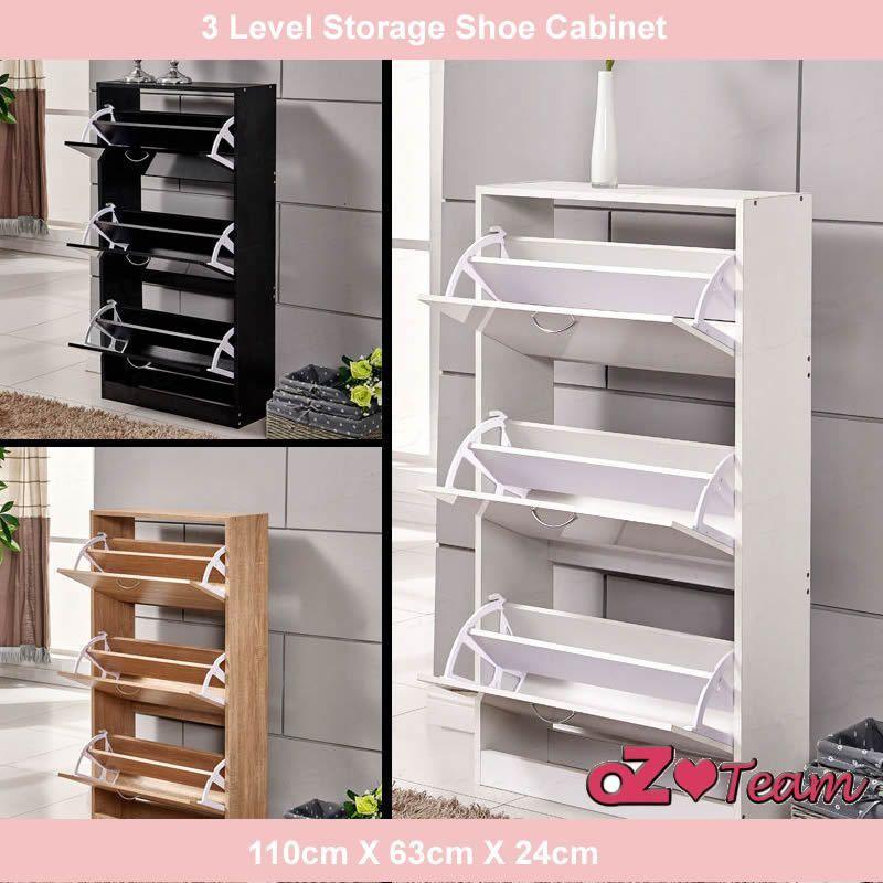 3 Level Drawers Shoe Cabinet Rack Storage Cupboard Organiser Shelf Chest  | eBay#cabinet #chest #cupboard #drawers #ebay #level #organiser #rack #shelf #shoe #storage