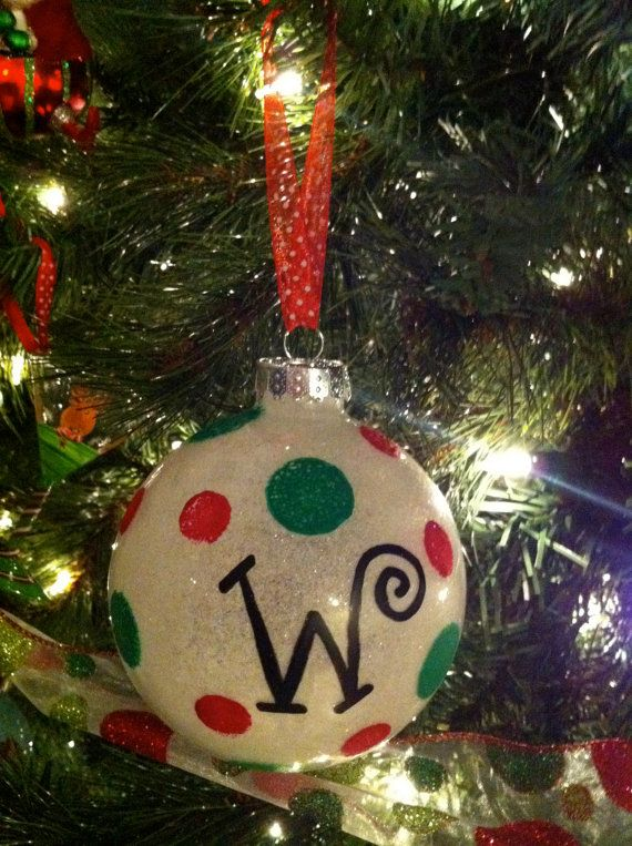 Christmas Ornaments With Names On Them.I May Do This Next Year For Our Tree With Family Members