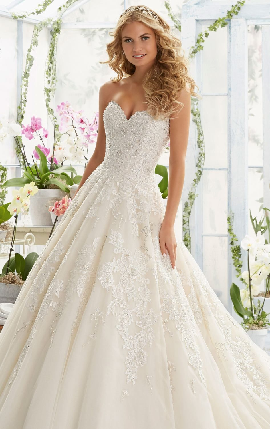 Become an angelic bride on your special day in Bridal by Mori Lee ...