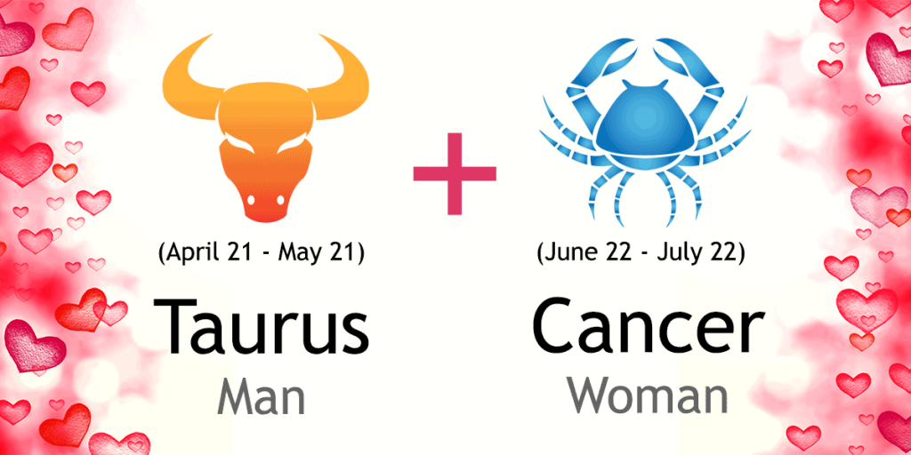 taurus male and cancer female