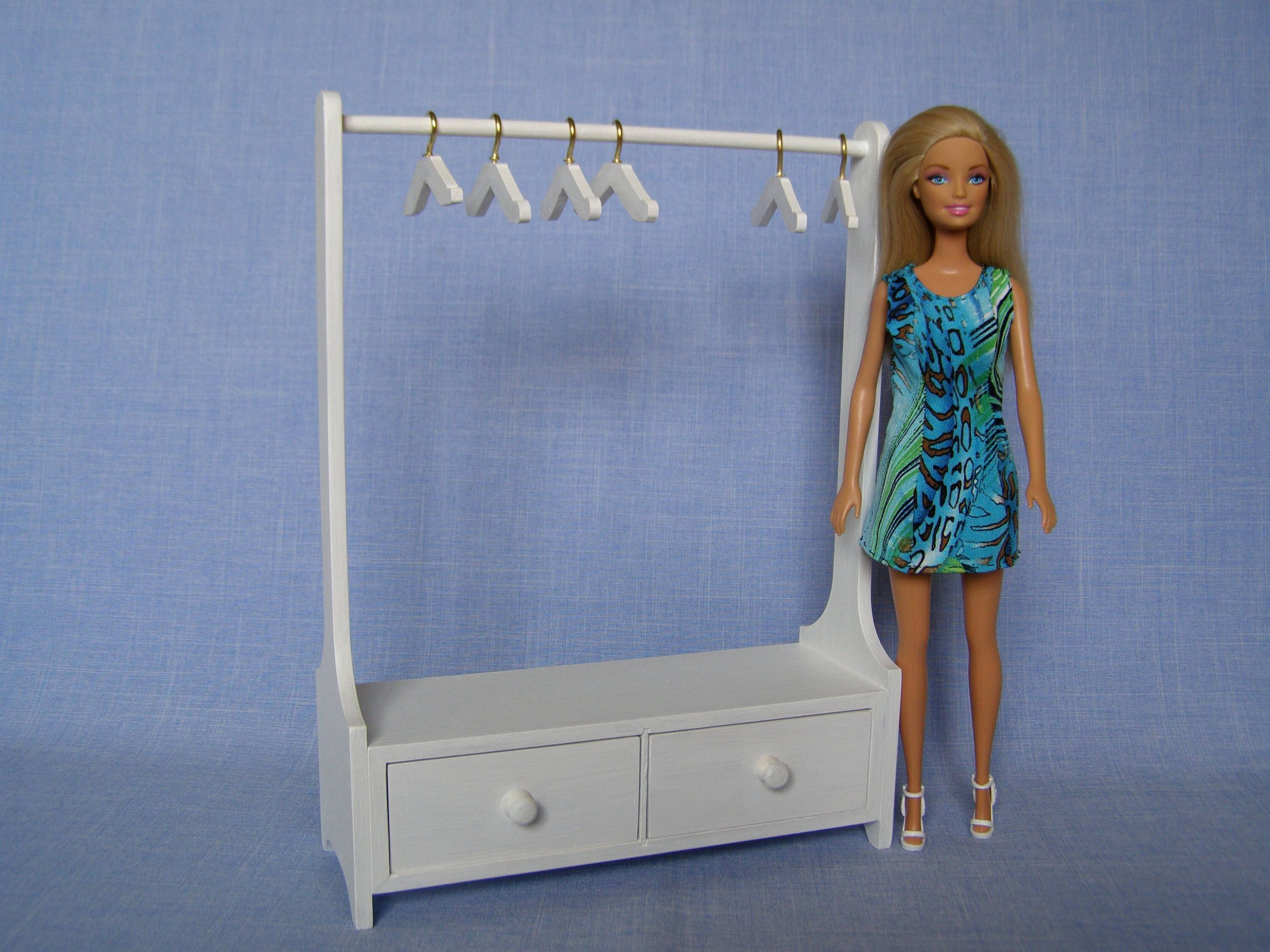 16 scale Doll Clothes Rack for 12 Inch doll/ Handmade