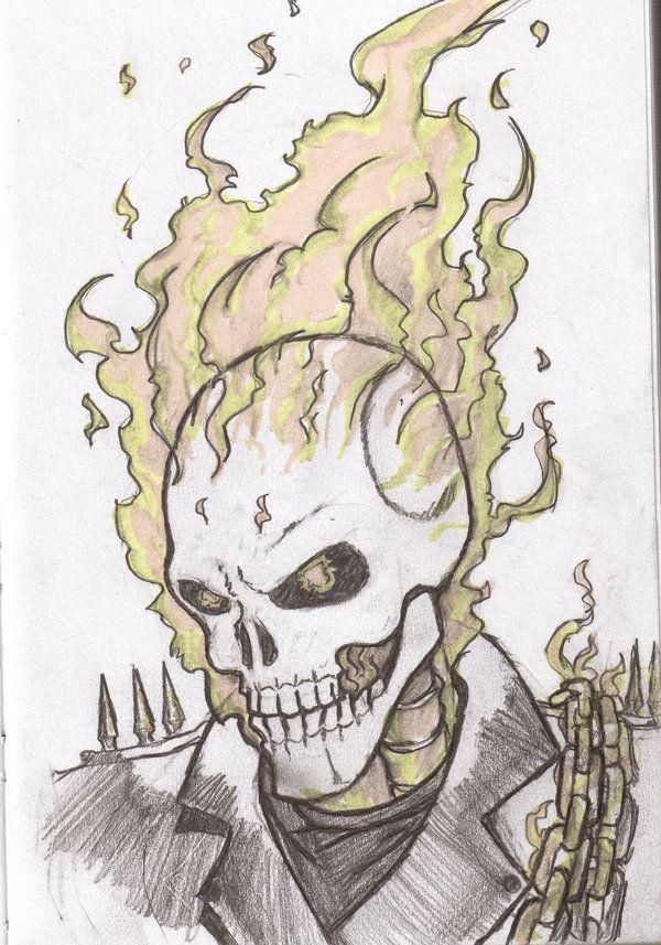Ghost Rider Ghost Rider Drawing Ghost Rider Marvel Ghost Rider
