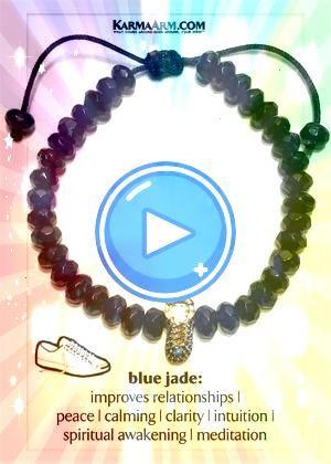 Wellness Self Care Meditation Mantra Yoga Bracelets Degs  Sal Sterling Silver  Tiger Eye Beaded Bracelet  Brown Tiny Treasures  Love Charm  Light Blue Jade Adjustable Rei...