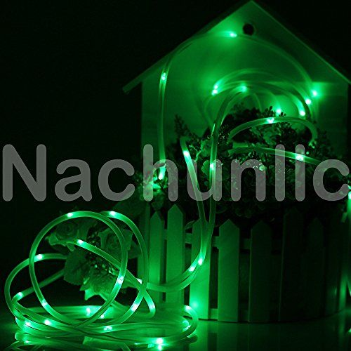 164ft LED Solar Rope Lights, Waterproof, 50 LEDs Soft Wire, PVC