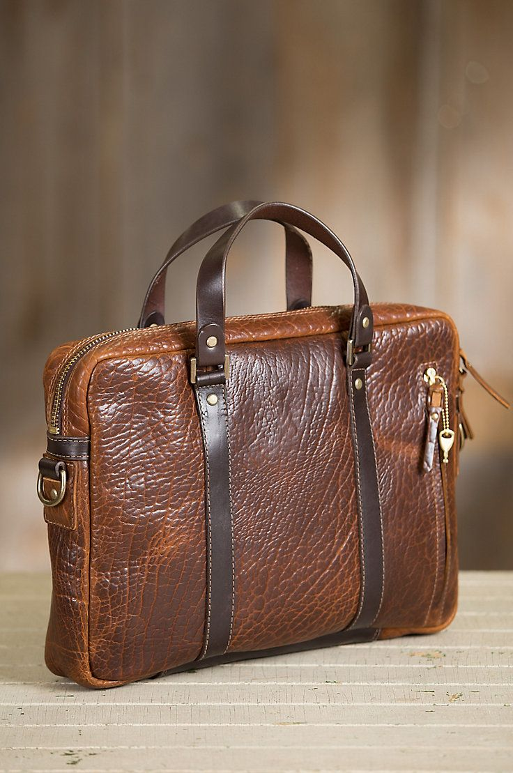 0811093bad86 Our luxurious briefcase with hand polished leather and antiqued brass  hardware carries your gear with elegance. Made in the USA. Free shipping  returns.