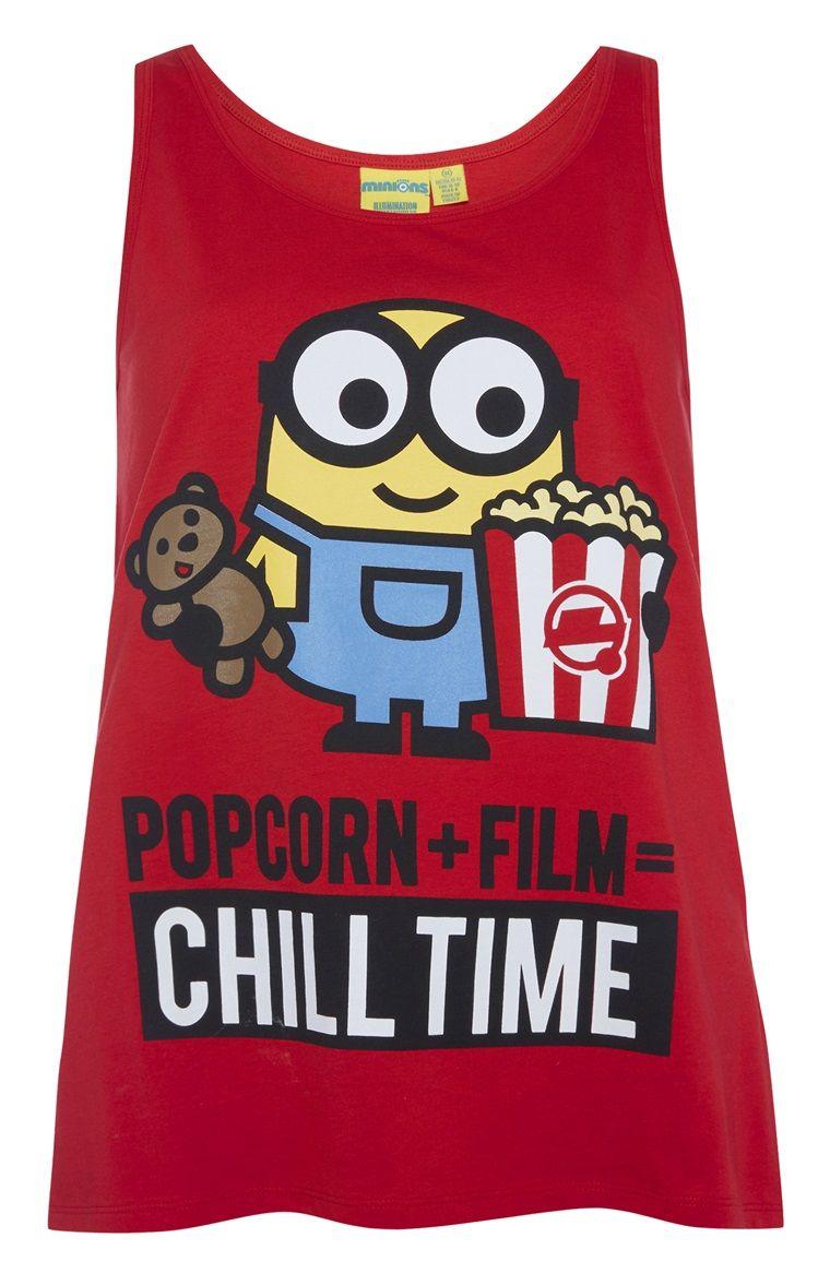 watch a453c f02da Primark -  Minions Popcorn  Pyjamatop | Pajama in 2019 ...