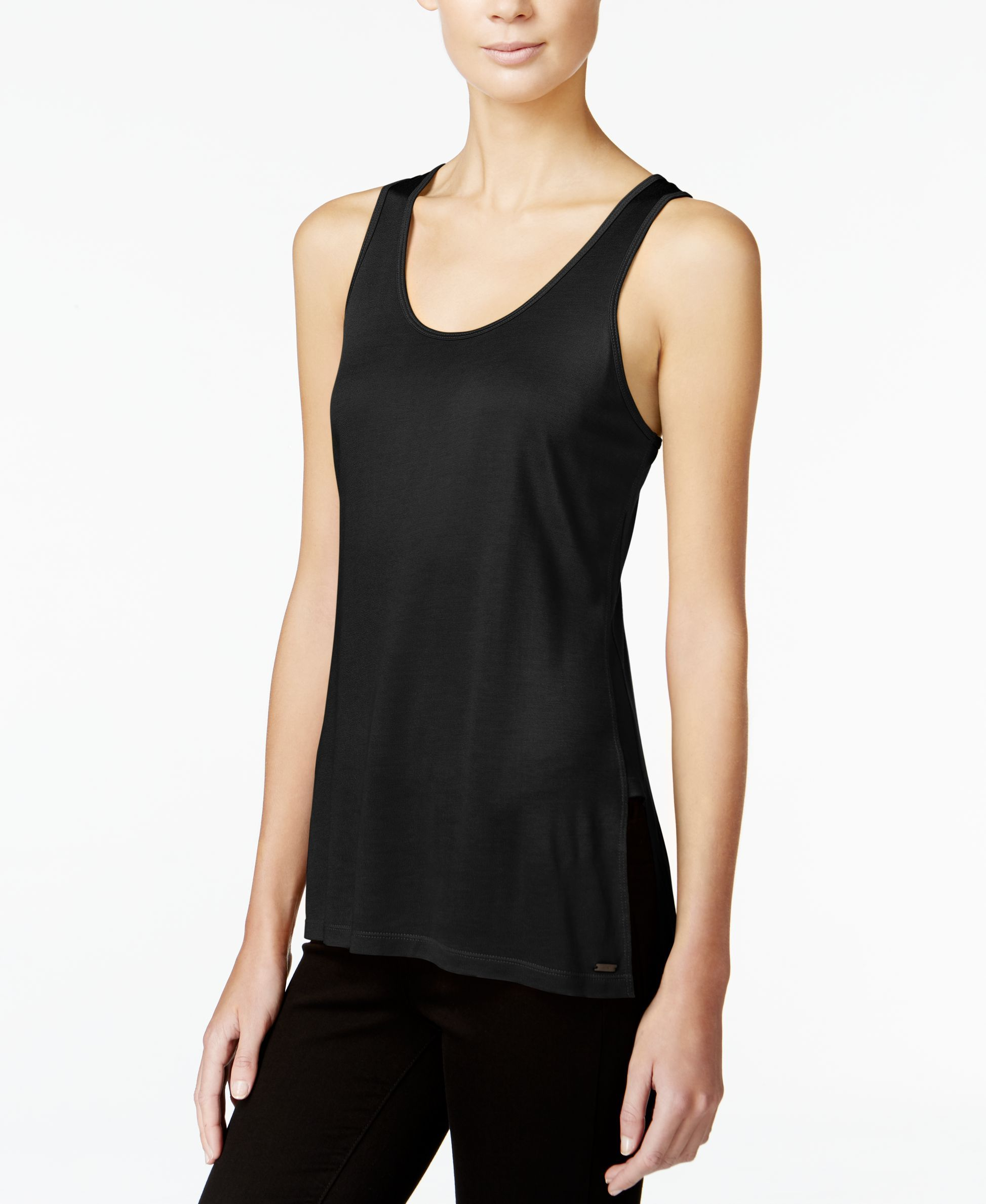 Armani Exchange Scoop-Neck Jersey Tank Top