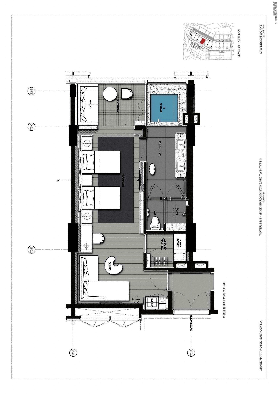 Grand hyatt sanya diseno pinterest planos planos de for Hacer plano vivienda