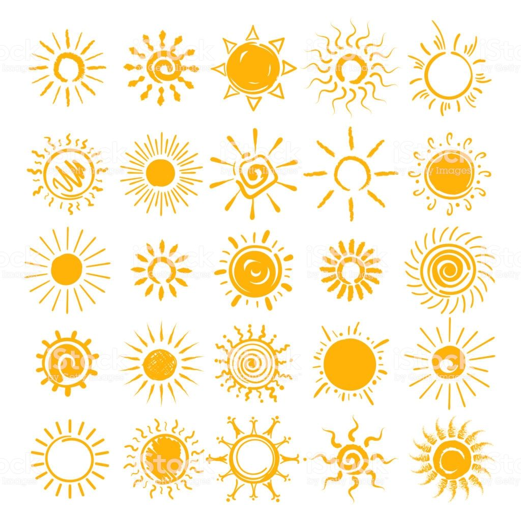 sun illustration vector hands drawn icons doodle cartoon in 2021 sonne zeichnung hande zeichnen sonnenschein tattoo schnörkel vektor storch