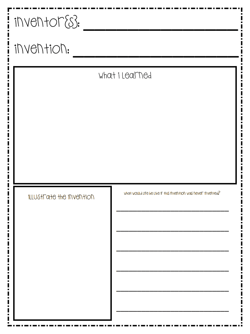 Worksheet for students to display their knowledge of