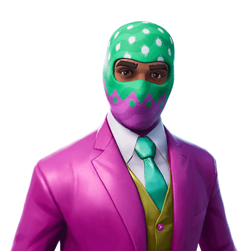 Hopper Outfit icon Fortnite, Pink and green, Hopper