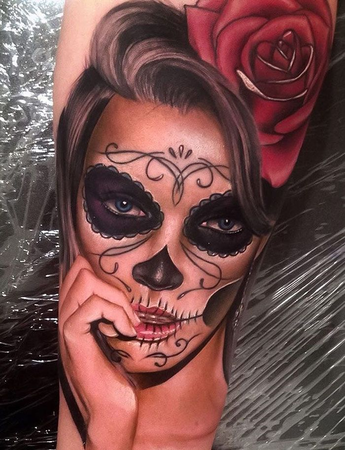 Day Of The Dead Portrait Tatuajes Pinterest Tatuaje Piercing