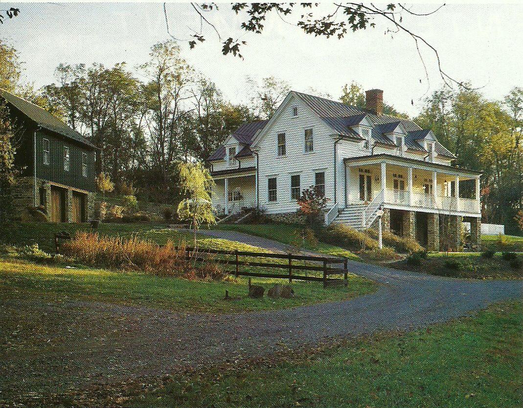 Southern farmhouse has a daylight basement white lap for Farmhouse basement