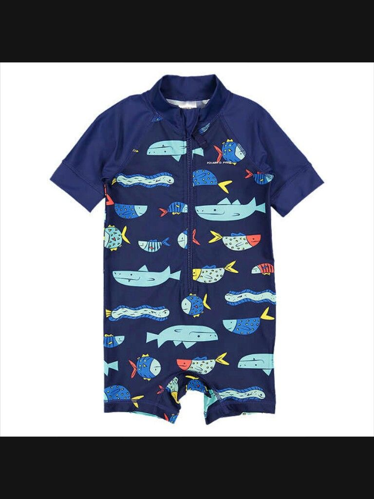 688b1eb90f4 Buy Polarn O. Pyret Baby Fish Print All-in-One Swimsuit, Blue from our Baby  & Toddler Swimwear range at John Lewis & Partners.
