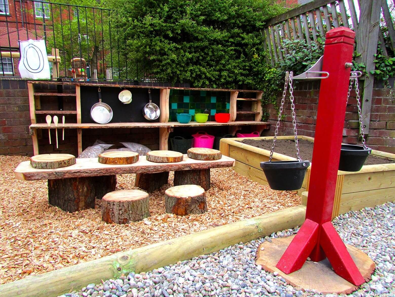 The interactive elements of playgrounds provided by for Kindergarten playground design