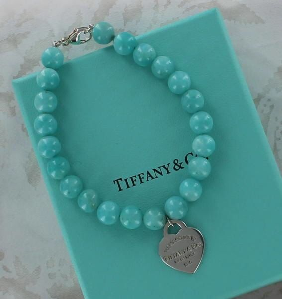155274aa6 RARE! AUTHENTIC Return to Tiffany Amazonite Sterling Silver 8mm Bead  Bracelet #TiffanyCo