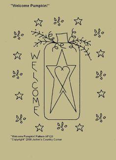 Primitive Redwork Patterns | primitive christmas redwork patterns | Primitive Stitchery EPattern ...