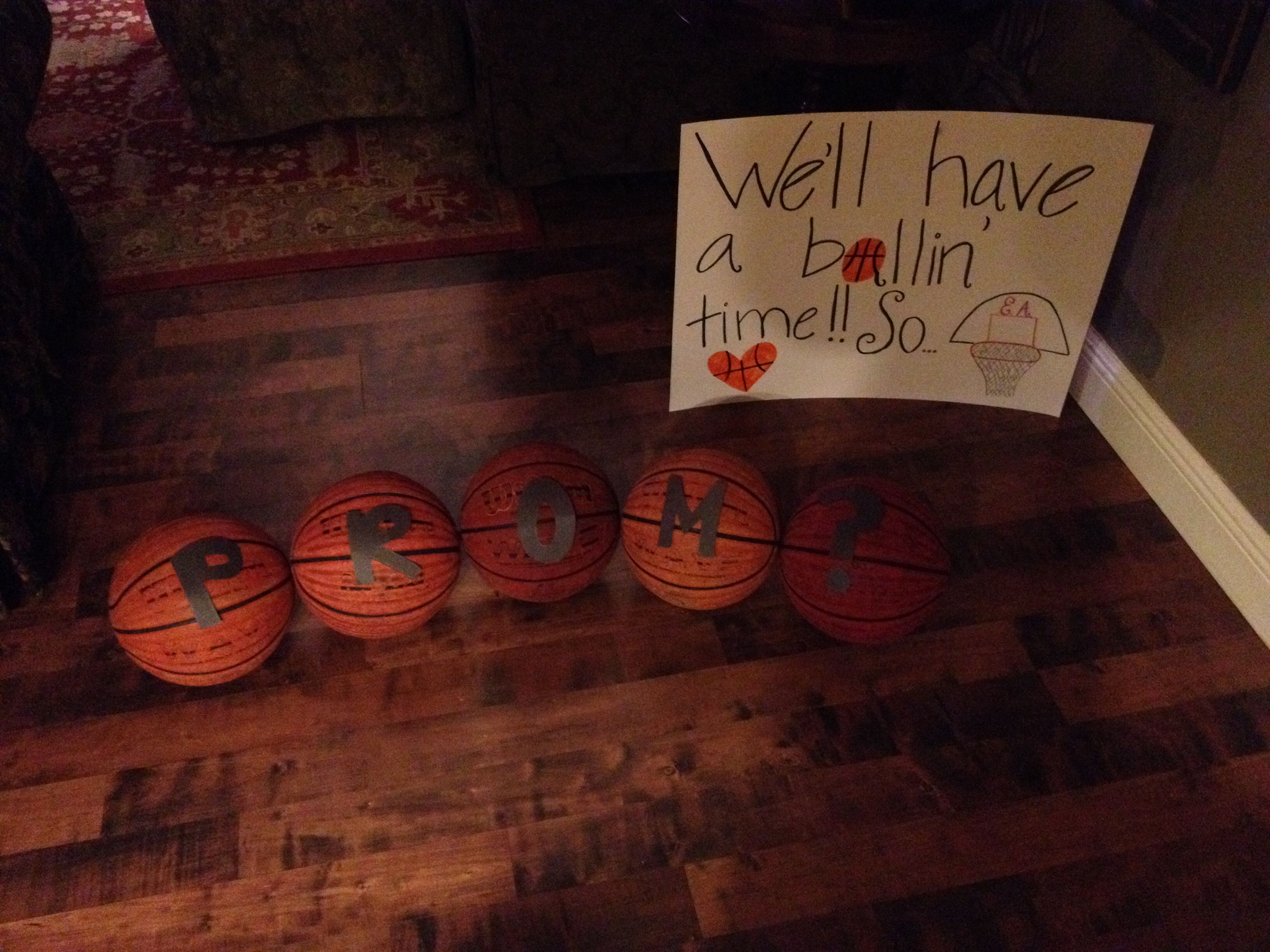 A great way to ask your basketball boyfriend to your prom or just if your boyfriend plays basketball or the guy you like plays it this is the ccuart Images