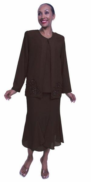 tea length brown plus size dresses