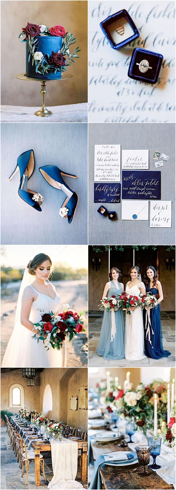 Arizona Wedding in Beautiful Shades of Blue