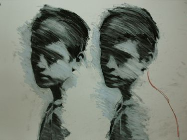 "Saatchi Online Artist Mark Horst. Drawing, ""glimpses no. 1"" #art"