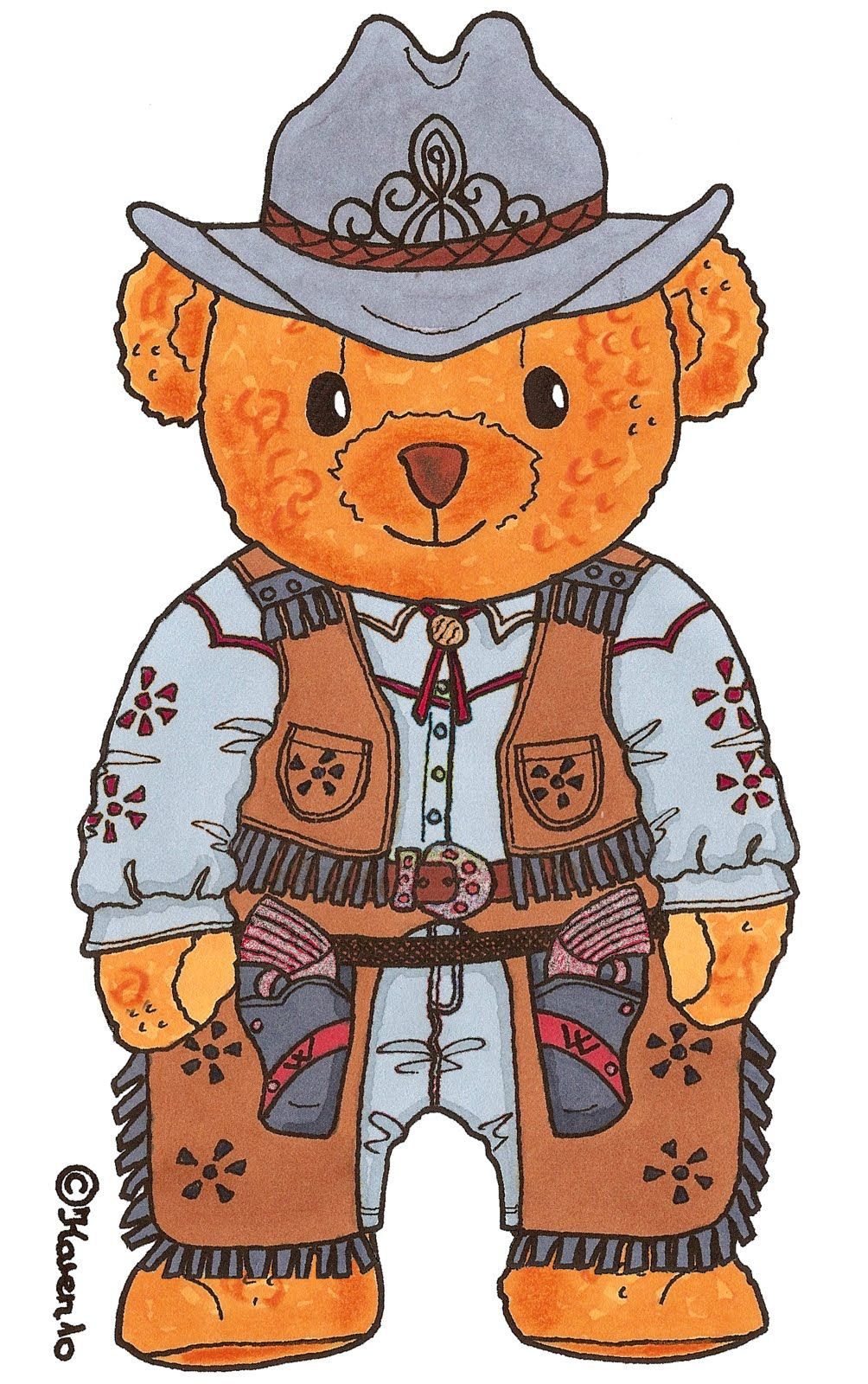 OSCAR a Bear from Karen's Paper Dolls 1 of 3
