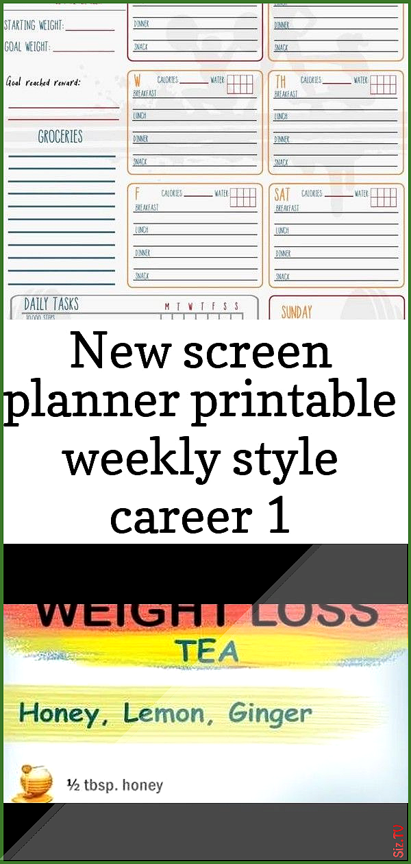 New screen planner printable weekly style career 1 New screen planner printable weekly style career...