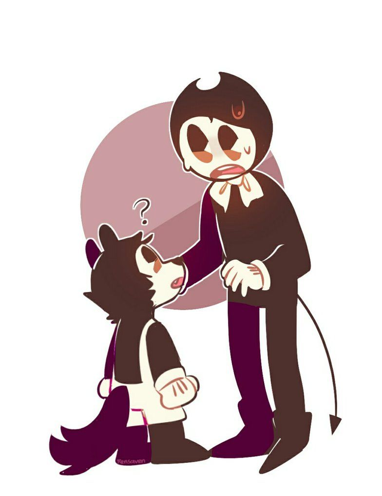 Art Ink And Bendy Machine Chibi