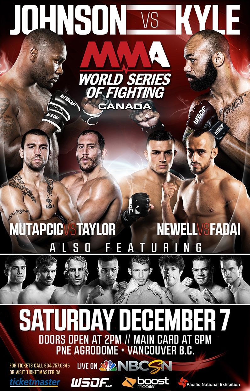 World Series Of Fighting Canada Event Poster Mma Graphicdesign