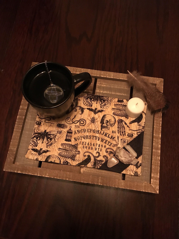 ouija mug rug set of 4 halloween mug rug set halloween kitchen decor