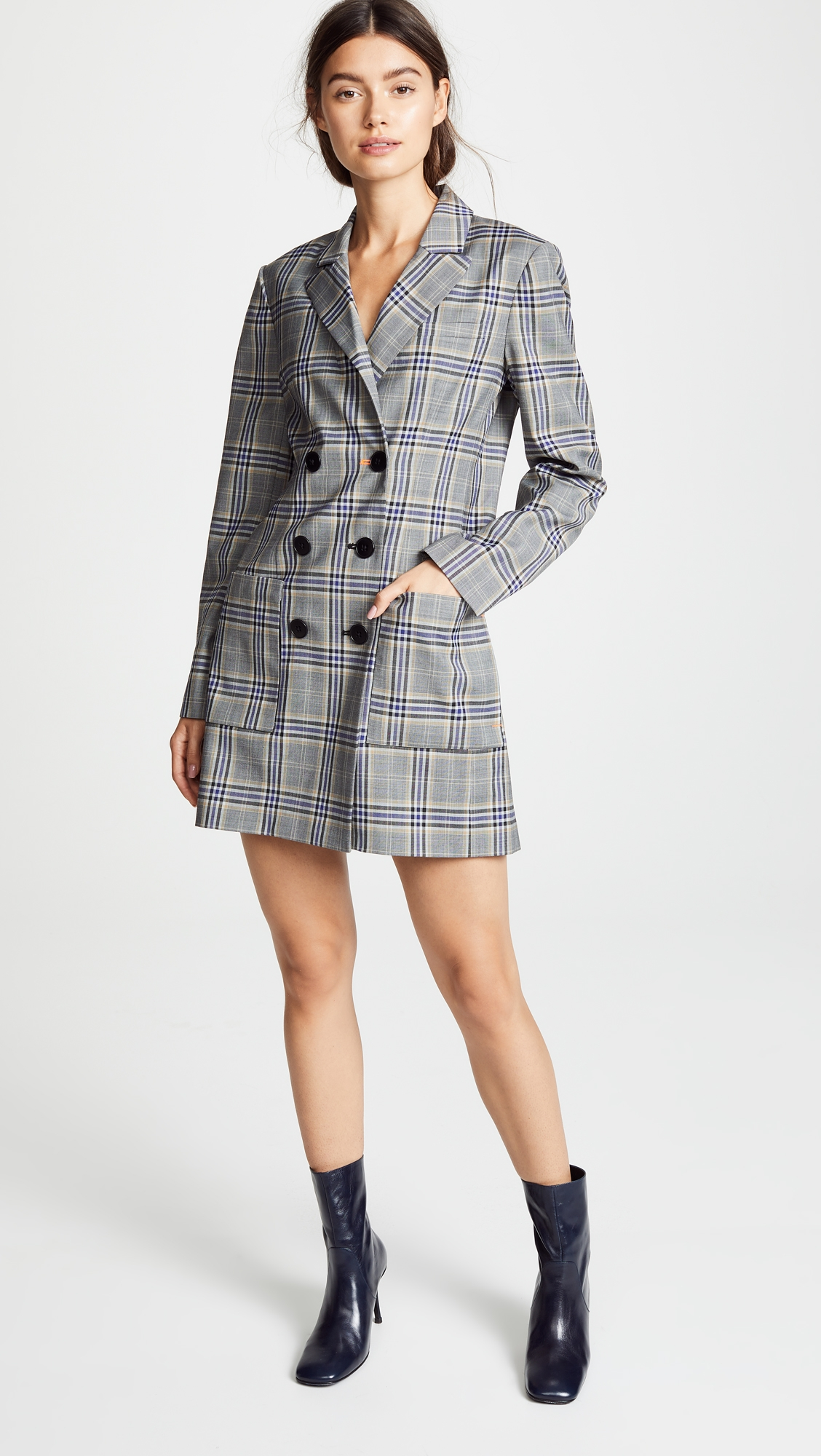 Tibi Lucas Double Ted Blazer Dress