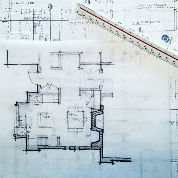 Architectural Sketch Floor Plan Line Weight Not Only
