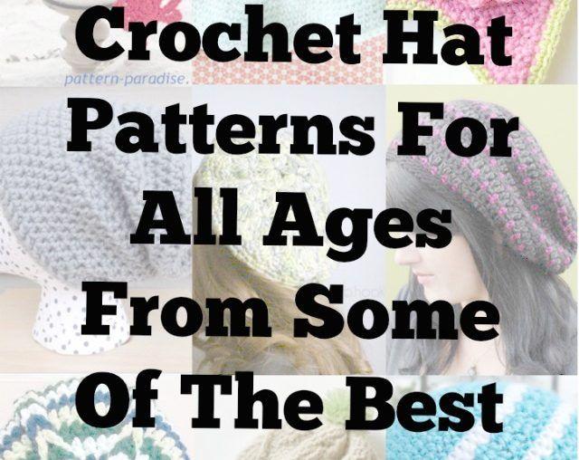 100 Mejores patrones de ganchillo sombrero para todas las edades For ...