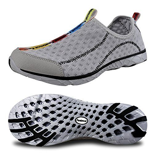 0321eed102e9 FEETMAT Womens Durable Water Shoes For Beach Pool Sand Swim Surf Yoga Water  Aerobics gray10 BM US     You can find more details by visiting the image  link.