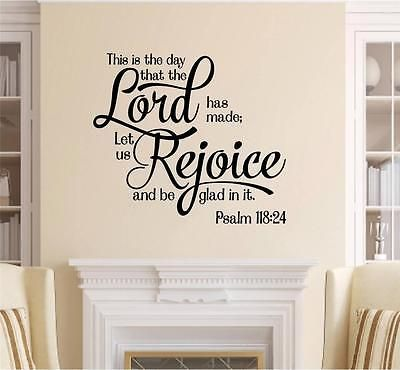 The Day The Lord Has Made Bible Verse Vinyl Decal Wall Sticker Words ...