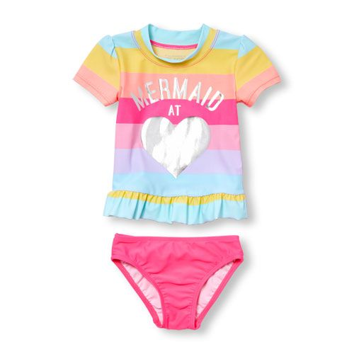 Mermaid Squad Toddler Girls T Shirt Kids Cotton Short Sleeve Ruffle Tee