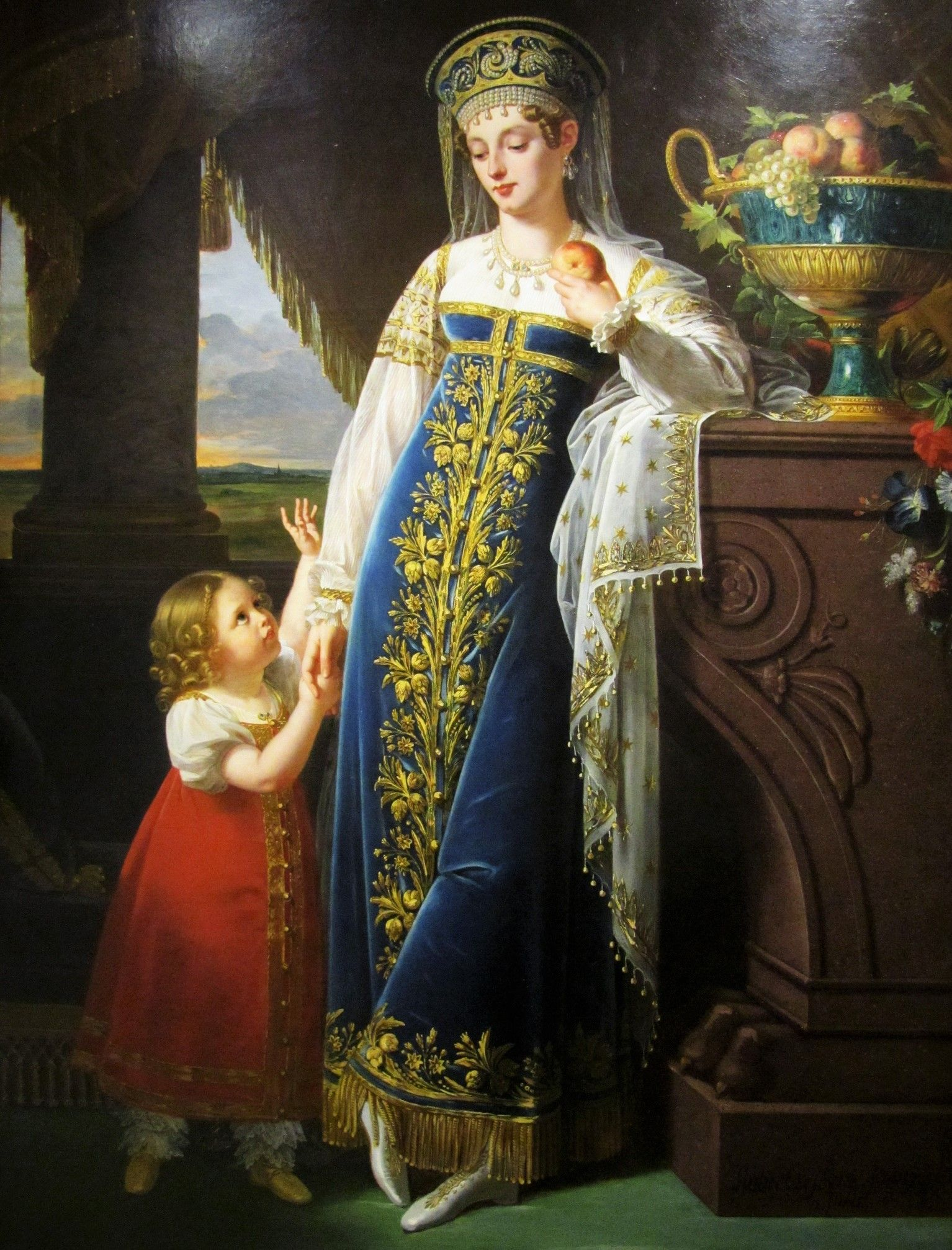 Princess Bariatinsky And Her Daughter Olga Russian Dress Art History Maria Feodorovna