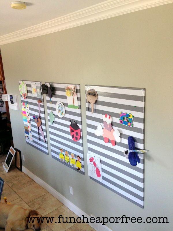 Easy Diy Bulletin Board That S Super Cheap Fun Cheap Or Free Diy Bulletin Board Easy Diy Home Reno Ideas