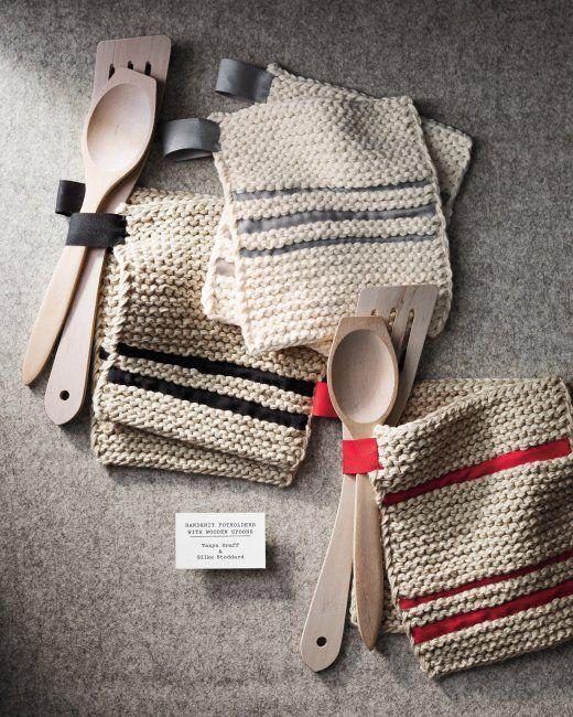 Pot Holders | Tejido, Agujas de tejer y Araña