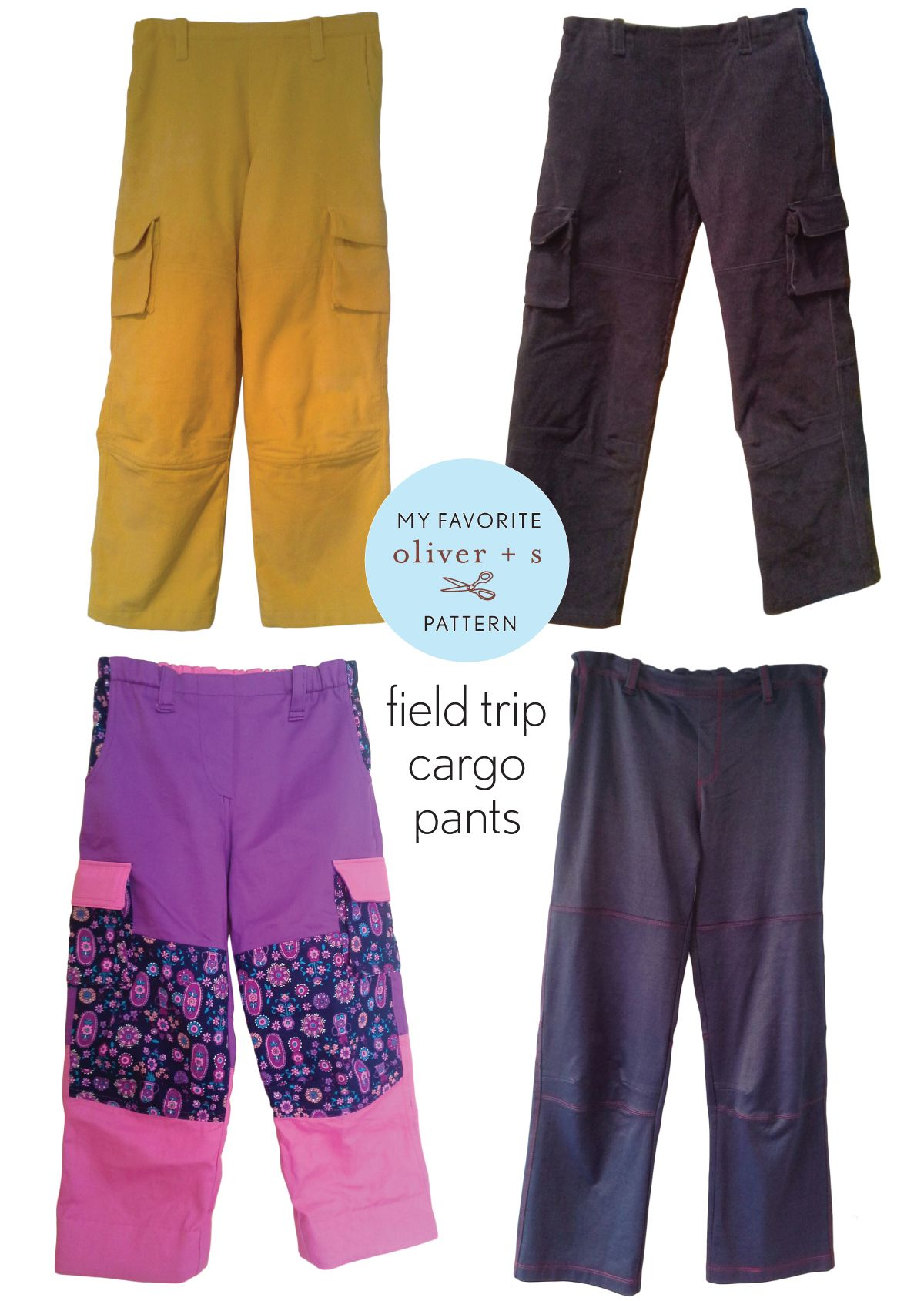 Heidi is sharing a bit about her favorite Oliver + S pattern, the Field Trip Cargo Pants.