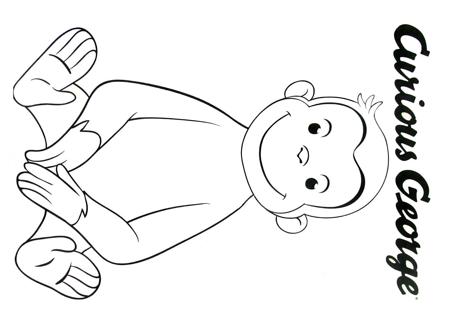 Curious George Coloring Book Page Printable
