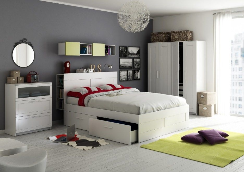 brimnes bed frame google search schlafzimmer. Black Bedroom Furniture Sets. Home Design Ideas