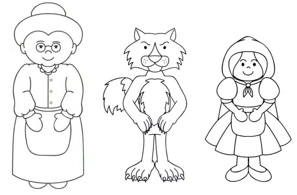 Abuelita De Caperucita Roja Para Colorear Coloring Pages Color Red Riding Hood
