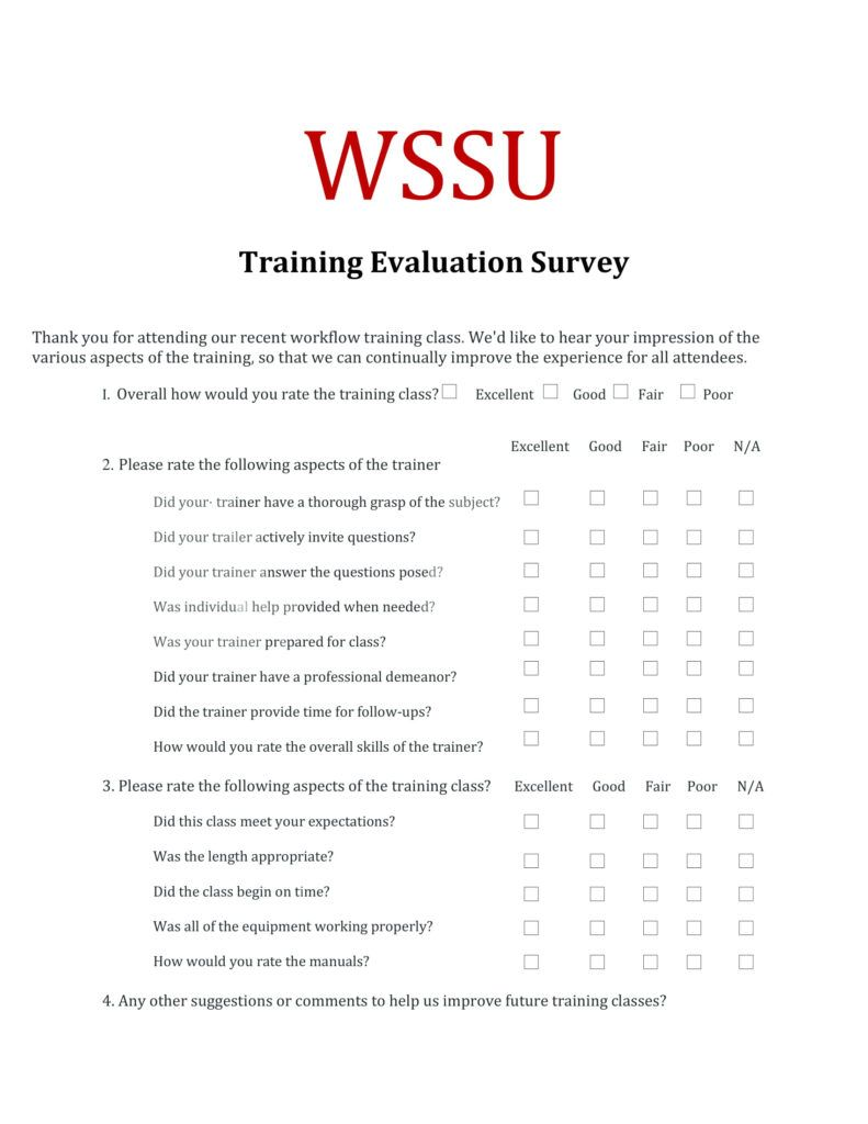 Training Evaluation Questions Calep Midnightpig Co For Training Evaluation Report Template Great Cretiv Training Evaluation Survey Examples Report Template