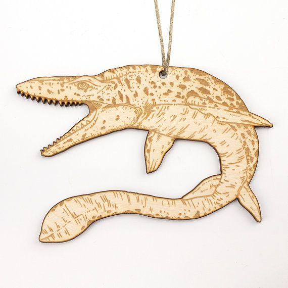 Mosasaurus Christmas Ornament by Dinosaurnaments on Etsy